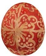 Pirostojás - hímzett tojás